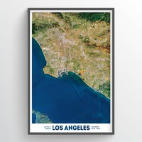 Los Angeles Earth Photography - Art Print