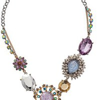 """Betsey Johnson """"Stargazer"""" Star and Cloud Mixed Bead Necklace"""