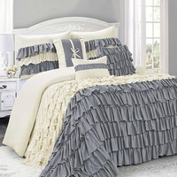 Bianca 7PC Ruffled Layers Comforter Bedding SET