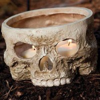 The Green Head - Skull Votive Candle Holder