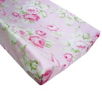 Changing Pad Cover | Shabby Chic Roses Ruffle