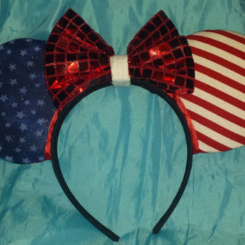 4th of July Disney Inspired mouse ears