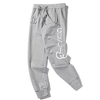GUCCI x NY co-branded new letter print casual sports pants Grey