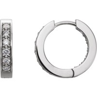 14K Yellow 3/4 CTW Diamond Hoop Inside/Outside Earrings
