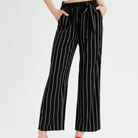 AE WIDE LEG PANTS, Black