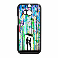 Love Song Romantic In The Rain Paint HTC One M8 Case