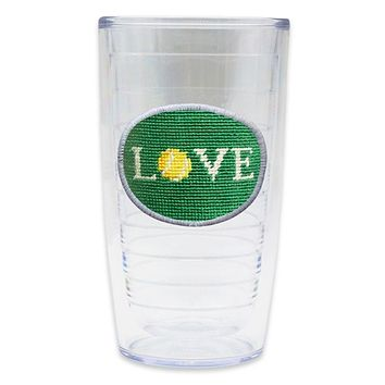 Love All Needlepoint Tumbler by Smathers & Branson