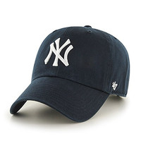 Navy Blue NY Embroidered Baseball Caps Hats