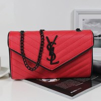 YSL Women Shopping Leather Chain Satchel Shoulder Bag Crossbody-3