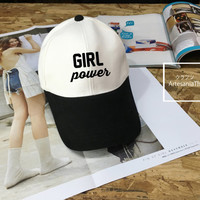 Girl Power Baseball Cap, Girl hat, Low-Profile Baseball Cap Hat Tumblr Inspired Pastel Pale Grunge