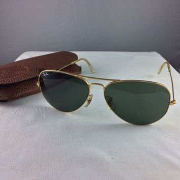 VINTAGE BAUSCH & LOMB RAY-BAN L2846 YXAS AVIATOR SUNGLASSES & CASE RAY BAN