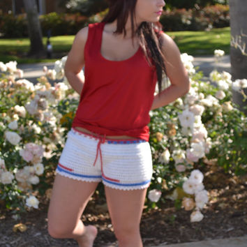 Crochet Women Boy Shorts - Spring - Summer - Vacation - Fashion - Mothers Day - Gift for Her - All Sizes - All Colors