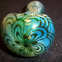 Glass Pipe, Pattern Pipe, Color Changing Beautiful One of A Kind Piece Ready for Shipping CGGE Team A-8