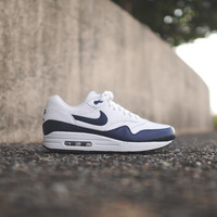 NIKE Air Max 1 Leather - Summit White / Midnight Navy