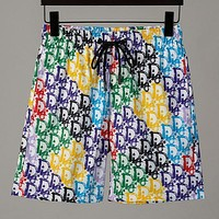 Dior summer new style color full printed shorts beach pants