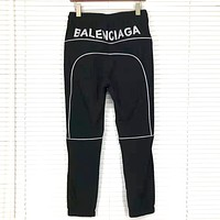 Balenciaga 2019 new casual versatile pants Black