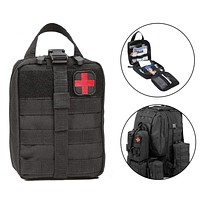 Outdoor First Aid Kit Cloth Tactical Waist Pack Camping Climbing Emergency Bag