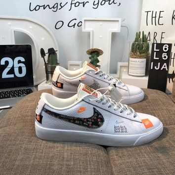 Men's and women's cheap nike shoes Nike SB Blazer Low GT JDI 'Just Do It'
