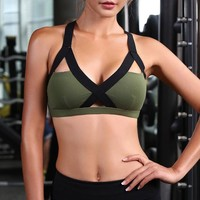 CHU YOGA Curve Word Yoga bra Tops Sports Bra Breathable Fitness Gym Push Up Stretch Vest Running  Workout shirts BRA171208