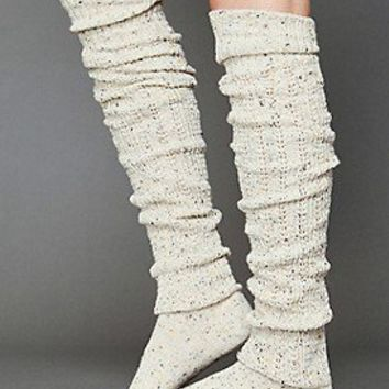 Free People  Clothing Boutique > Speckled Slouch Tall Sock