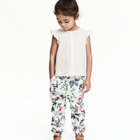 Patterned Pull-on Pants - from H&M