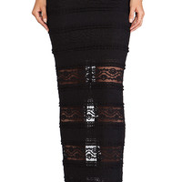Alice + Olivia Ettley Lace Maxi Skirt in Black