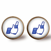 Facebook Like with Beer Stud Earrings