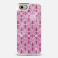 Flower lace_burgundy iPhone 6 case by Kanika Mathur | Casetify