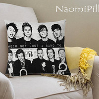 5 Seconds Of Summer And One Direction Pillow Cover Printed_18x18,16x24,20x30_Modern Pillow Case_Decorative Throw Pillow Case