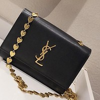 YSL women's palm pattern heart-shaped chain wild messenger bag chain bag shoulder bag