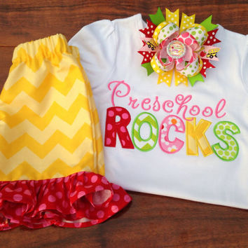 Back To School Shirt, Preschool, Kindergarten, 1st Grade Rocks, Any Grade, Personalized Back To School Shirt