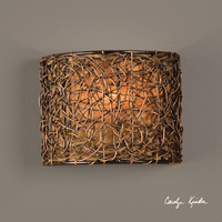 Knotted Rattan 1 Light Wall Sconce