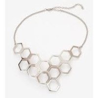 Vita Fede Geo Mille Necklace with Clear Crystals in Silver