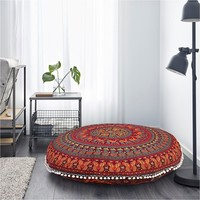 "Brenna Boho Home 32"" Round Floor Pillow"