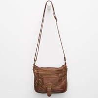 T-Shirt & Jeans Oil Washed Buckle Crossbody Bag Cognac One Size For Women 25314940901