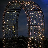Solar String Lights With White LEDs, 100 count