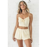 Pull Me Closer Banana Shorts Set