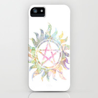Supernatural watercolours iPhone Case by Dan Lebrun