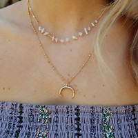 You'll Think Of Me Necklace: Gold/Ivory