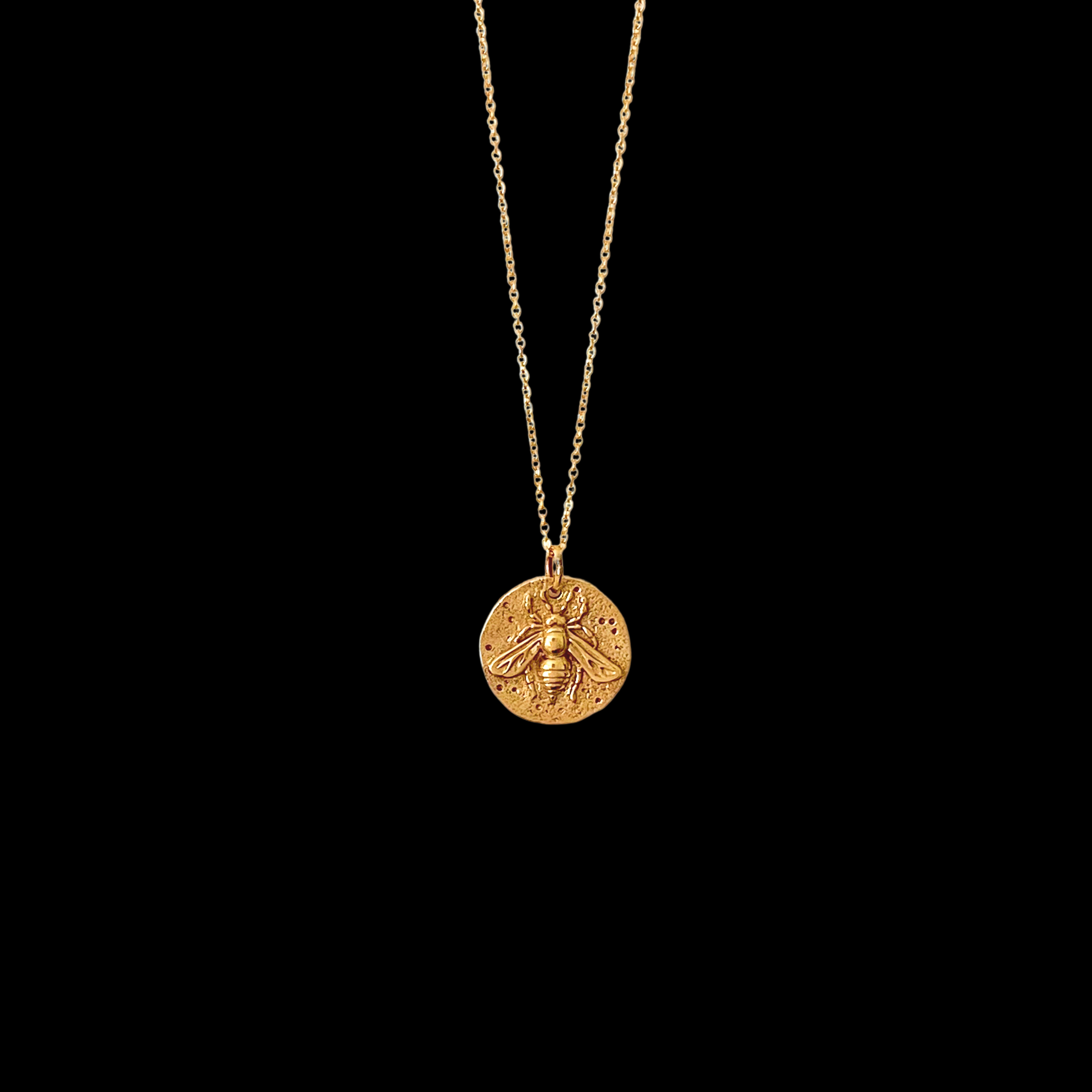 Image of Bee Coin Pendant Necklace