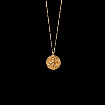 Bee Coin Pendant Necklace