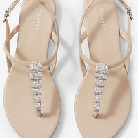 Rhinestone Arch T-strap Sandal from EXPRESS