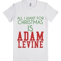 All I Want For Christmas Is Adam-Female White T-Shirt