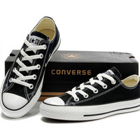 """""""Converse"""" Fashion Canvas Flats Sneakers Sport Shoes Low tops Black"""