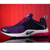 NIKE Women Fashion Running Sport Casual Shoes Sneakers Dark blue Rose red G-MDTY-SHINING
