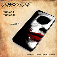 JOKER Half Face Snap on 2D Black and White Or 3D Suitable With Image For Iphone  5/5S Case