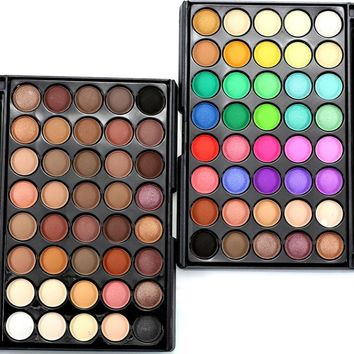 Hot 40 Colors Earth Matte Pigment Palette Eyeshadow Makeup Eye Shadow for WomenCY2