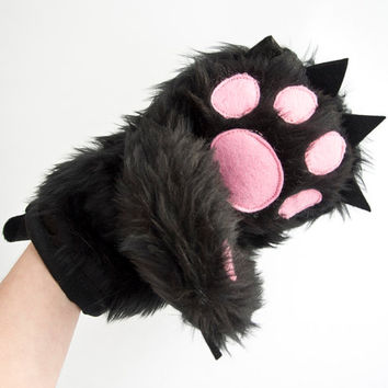 Baking Glove in a Funny Form of Teddy Bear Paw - Pot Holder