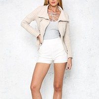 Last Kiss Chic Jacket in Nude