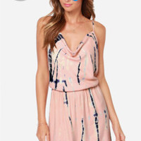 LULUS Exclusive Almost Flame-ous Peach Tie-Dye Dress